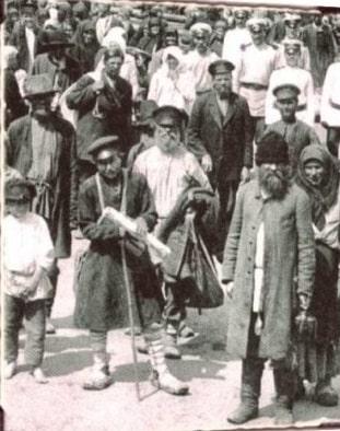 Богомольцы. Фрагмент фото 1903 г. (РГАКФД).