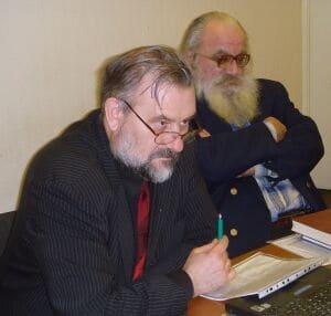 академик, историк В.В. Алексеев и церковный археолог С.А. Беляев