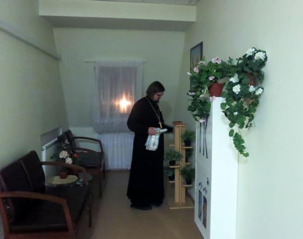 Исповедь в доме паломника