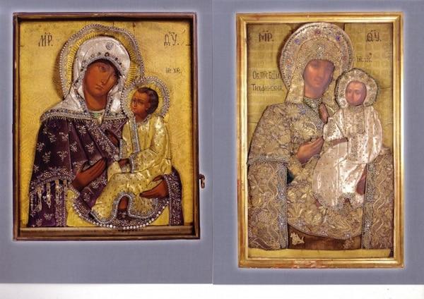 Тихвинские иконы Пресвятой Богородицы. Золотное шитье